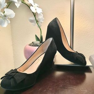 Jessica Simpson Sheryll Suede Bow Wedges